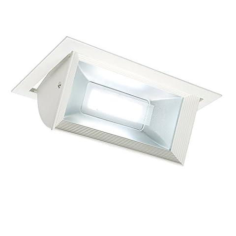 Saxby Mendip 30W blanc mat encastrable réglable affichage à LED