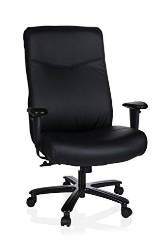 hjh OFFICE 738000 Chefsessel XXL Everest Kunstleder Schwarz Schreibtischstuhl gepolstert bis 180 kg belastbar