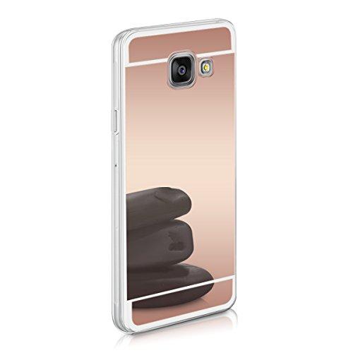 kwmobile Samsung Galaxy A3 (2016) Hülle - Handyhülle für Samsung Galaxy A3 (2016) - Handy Case in Rosegold spiegelnd