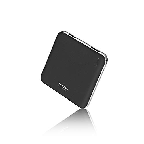 MOXNICE Power Bank Portable Phone Charger 10000mAh, Smallest and Lightest Battery Pack with 2 Outputs for iPhone, Samsung, Huawei and More (Black)