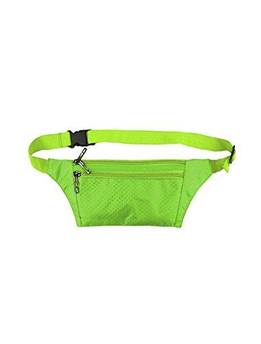 sourcingmap® Unisex drei RV Taschen e-Geschäft Argyle Design Taille Tasche Silber Ton Green