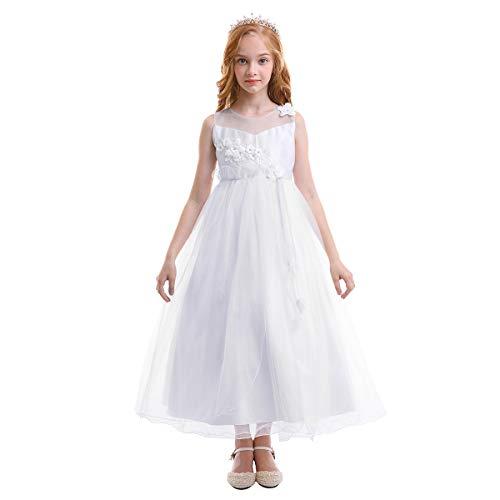 54b9d6cddffb OBEEII Vestito Elegante da Ragazza Festa Cerimonia Matrimonio Damigella  Donna Sposa Prima Comunione Battesimo Carnevale Ballerina