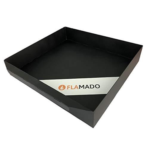 Flamado® Aschekasten 300 x 275 x 45 mm Passend Für Wamsler** Kamine | Ersatzteil Kamin/Kaminofen | Verzinktes Stahlblech Schwarz