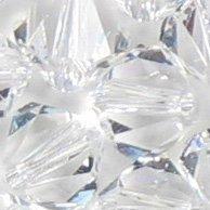 Bicone de cristal Swarovski 5301/53286mm Perles Transparentes (20) 524003