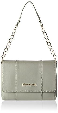 Armani Jeans Borsa A Tracolla, Women's Shoulder Bag, Grau (Taupe), 19x10x27 cm (B x H T)
