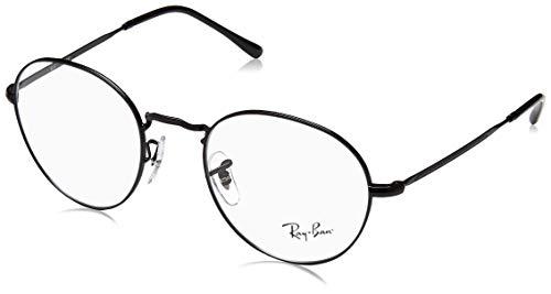 Ray-Ban Unisex-Erwachsene 0RX 3582V 2760 49 Brillengestelle, Schwarz (Demigloss Black),
