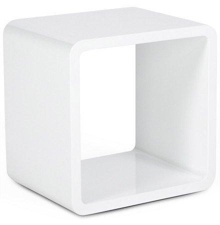 Clear Seat Table basse KUBIC en bois MDF laqué blanc