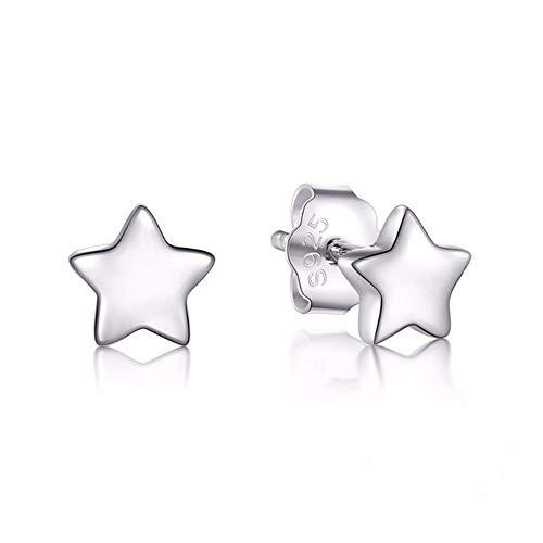 Damen Ohrringe in Stern Form 925 Silber Ohrstecker Ohrschmuck Ohrringe für Frauen Herren