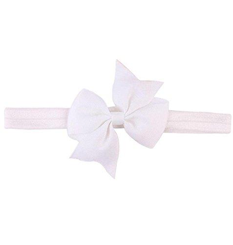 Band Uniform Kostüm - ZEZKT-Girl Baby Kind Mädchen Prinzessin Kristalldiamant Stirnband Blumen Haar-Band Süßes Baby Headband Prinzessin Stretch Stirnbänder Babygeschenke Taufe Geschenk (Weiß)