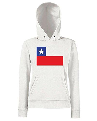 T-Shirtshock - Sweats a capuche Femme TM0177 Chile Flag flag Blanc