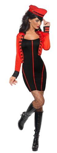 Erwachsene Beängstigend Kostüm Für - Smiffys Militär Popstar Kostüm mit Kleid und Jacke