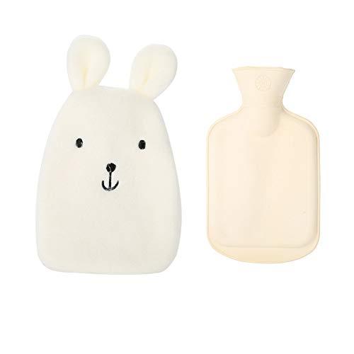 Wärmbeutel, 350 ml, Gummi, Winter-Handwärmer, Flasche, Therapie, Wassersack mit weichem Plüschbezug, 22,9 x 14 cm, niedlicher Bär für Kinder