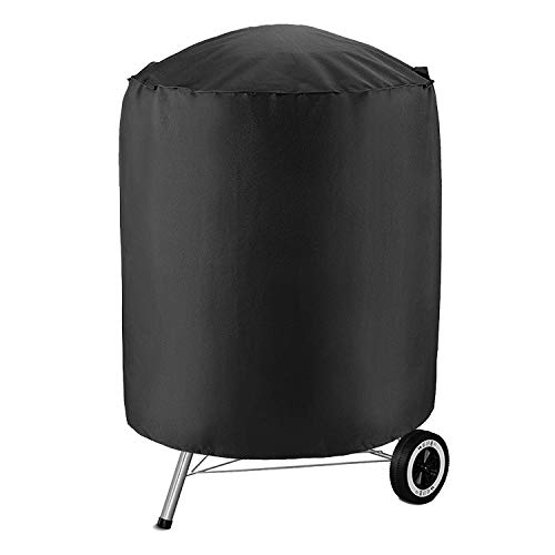 HONCENMAX Dome Smoker Cover - Kettle Style Barbecue Grill Cover - Round Vertical Water Smoker Cover - Waterproof Barrel Cover - Garden Patio BBQ Accessory - Dia 27.5