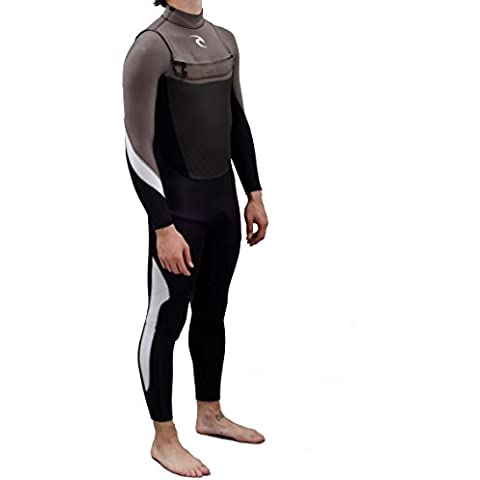 2016 Rip Curl Junior Dawn Patrol 4/3mm ChestZip Wetsuit Black/Charcoal WSMXFB Age / Size - 14 Years