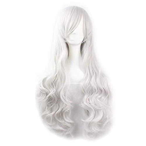 heißer Verkauf weiße Farbe synthetische billige Cosplay Perücken für Frauen Party Perücken Halloween
