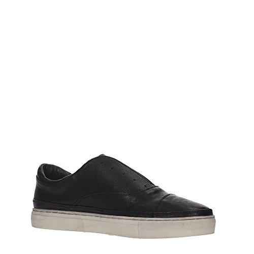 Crime 11400A16B Sneakers Uomo Pelle Nero Nero
