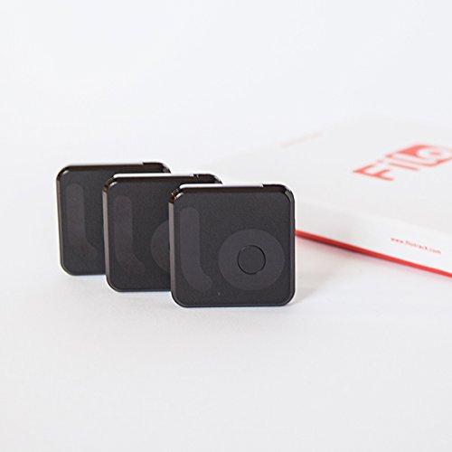 Filo (x3) Portachiavi Bluetooth Ritrova Chiavi - MADE IN ITALY - Key Finder Localizza Oggetti Bluetooth Tracker Localizzatore Bluetooth Compatibile con iPhone 4s e successivi, iPad Mini, iPad 3rd gen e successivi e Samsung S5, S5mini, S6, Galaxy Grand Neoplus, HTC One M8, OnePlus One, Google Nexus 5/6 - Nero