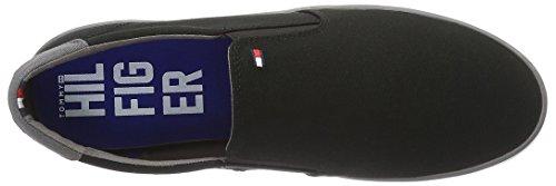 Tommy Hilfiger H2285arlow 2d, Sneaker Basses Homme Noir (Nero)