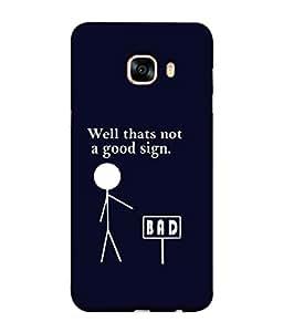 FUSON Designer Back Case Cover for Samsung Galaxy C7 SM-C7000 (Illustration Inspiration Change Motivate )