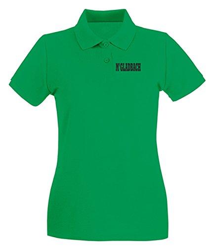 T-Shirtshock - Polo pour femme WC0832 MONCHENGLADBACH GERMANY CITY Vert