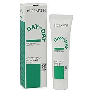 BIOEARTH - Concentré Purifiant Day by Day - Soin en cas d'Acné - Avec l'huile de théier - Antioxydant et Sanitizer - Vegan et pH 4,5 - 15 ml