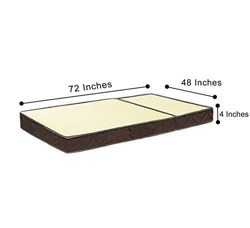 Comforto Folding 4-Inch Twin Size Foam Mattress, 72 x 48 x 4 Inches Image 2