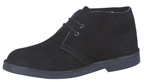 Herren klassische Wildleder-Stiefel, Schwarz - schwarz - Größe: 38 EU
