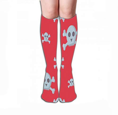 Xunulyn Hohe Socken Women's Men's Knee High Socks Athletic Socks 19.7