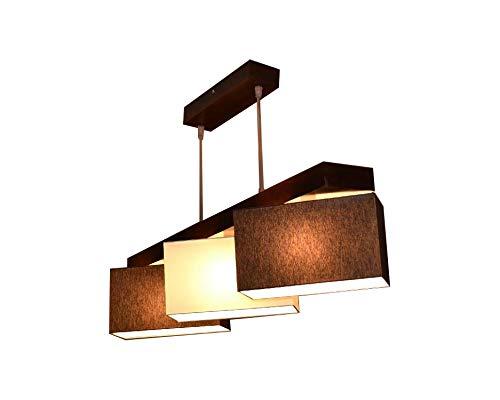 Hängelampe Hängeleuchte Milano B3 MIX Lampe Leuchte 3 flammig verschiedene Varianten (Braun-Creme-Braun)