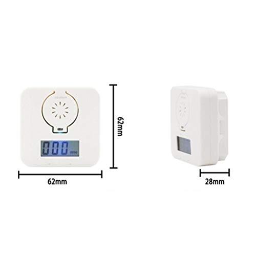 Alarma de monóxido de Carbono,  Alarma de Detector de monóxido de Carbono Sensor de Advertencia de Gas de CO Probador de Monitor de Alarma,  con Pantalla LCD,  Detector de Funcionamiento de batería