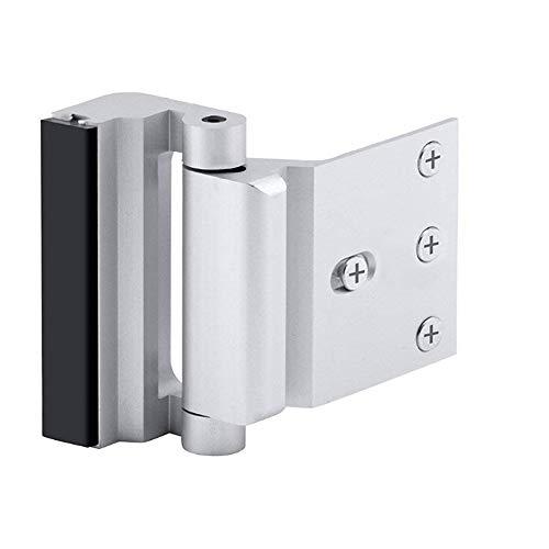 Home Security Türschloss, kindersicheres Tür-Verstärkungsschloss mit 7,6 cm Anschlag, 4 Schrauben widerstehen 800 kg für nach innen schwenkbare Tür, Upgrade Nachtschloss zur Verteidigung Ihres Hauses - Home-security-hardware