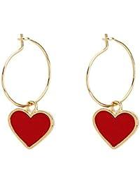 74c6e5615628 Amazon.es  corazon rojo - Últimos tres meses   Pendientes   Mujer ...