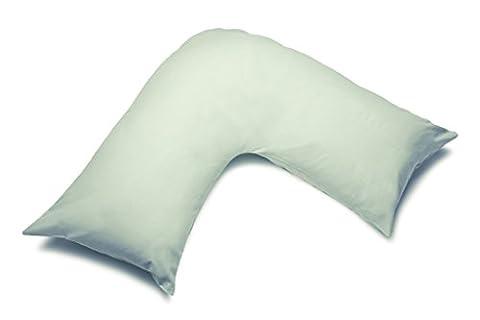 ShawsDirect V Pillowcases for V Shaped Pillows, White, Cream & Colour Selection - Apple
