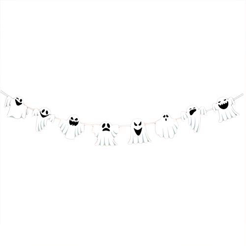 Demarkt 1 PcsHalloween décoration Papier Couleur Pull Flag Mall Bar KTV école Halloween décoration Fournitures (Style 6) 300cm Demarkt