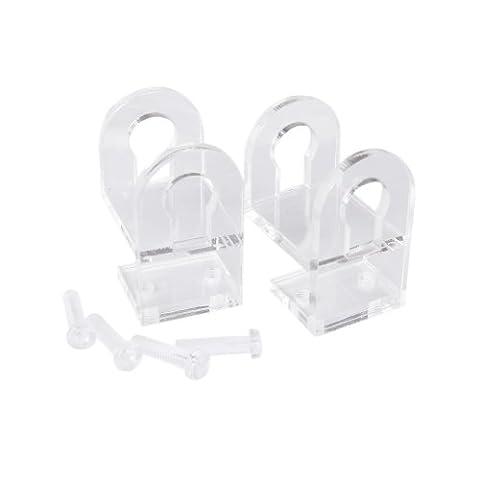 17mm Tube Clip Pince Acrylique Fixation Support Aquarium Citerne Tuyau d'eau Rond