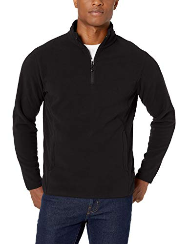 Amazon Essentials Quarter-Zip Polar fleece-outerwear-jackets, Black, X-Small -