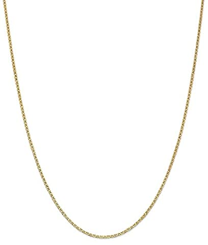 IceCarats 14k Yellow Gold 1.5mm Anchor Cuban Link Chain Necklace 24 Inch Flat