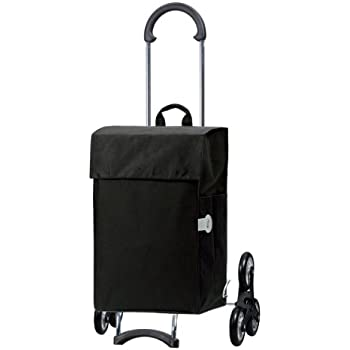 Chariot de courses Scala Elba noir , volume 40L, garantie 3 ans, Made in Germany