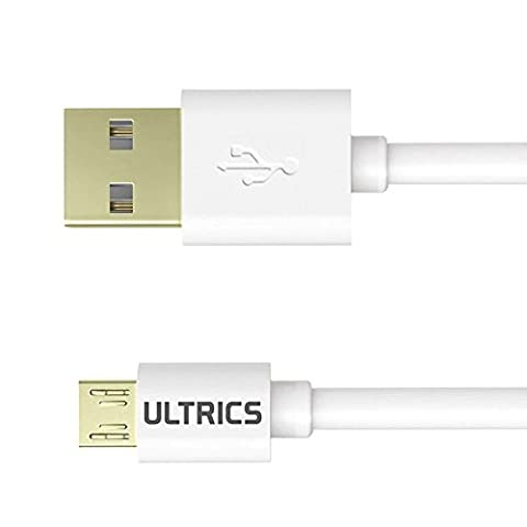 ULTRICS® Micro USB Cable Premium Quality USB 2.0 Gold Plated Male A to Micro B Durable High-Speed Data Sync Charging Cable Android, Samsung, Tablets, PS4 - [9ft