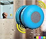 #6: Portable Waterproof Bluetooth Shower Stereo Speakers with Suction Cup and Built-in Mic Powerful Handsfree Speakerphone