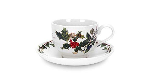 Portmeirion Holly And Ivy Teacup and Saucer 0.2L by Portmeirion -
