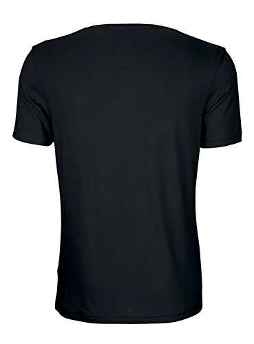 Herren T-Shirt aus Bio-Baumwolle und Modal, Herren Baumwolle (Bio) Shirt mit Modal, Herren Tshirt Rundhalsausschnitt, Bio T-Shirt mit Modal, Bio Shirt Modal Einführungspreis Schwarz