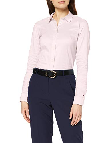 Tommy Hilfiger Heritage Slim Fit Shirt Blusa, Rosa (Cradle Pink 888), 34 (Talla del Fabricante: 2) para Mujer