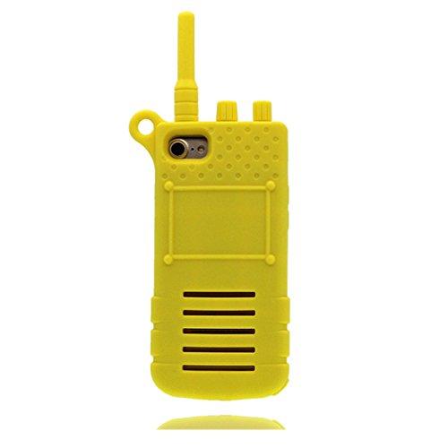 Custodia iPhone 6 Plus, 3D Cartoon Telefon Cover TPU protettivo flessibile alla moda Case per iPhone 6 Plus, Shell iPhone 6S Plus copertura 5.5 pollici Graffi la polvere resistente rosa giallo