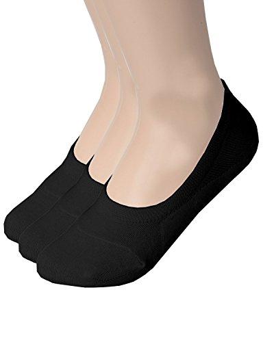 zando-donna-casual-antiscivolo-piatta-colore-a-taglio-basso-caviglia-linea-calze-e-3-pairs-black-241