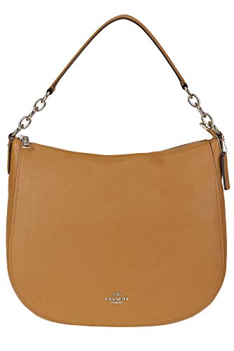 Coach Grainy Leather hobo Bag Woman Light Brown unica int.