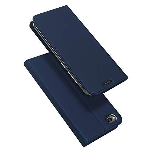 DUX DUCIS Funda Xiaomi Redmi Go, PU Cuero Flip Folio Carcasa [Magnético] [Soporte Plegable] [Ranuras para Tarjetas] para Xiaomi Redmi Go (Azul Marino)