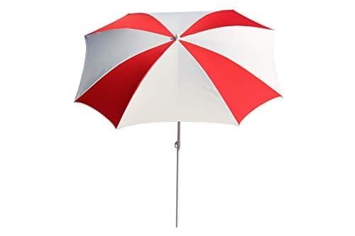 Maffei Art 18 Malta semi-Quadrat Schirm, cm 160x160/8 (Weiß/Rot)