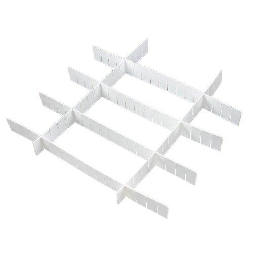 SODIAL(R) Startseite weisse Kunststoffgitter DIY Schublade Teiler Speicherorganisator