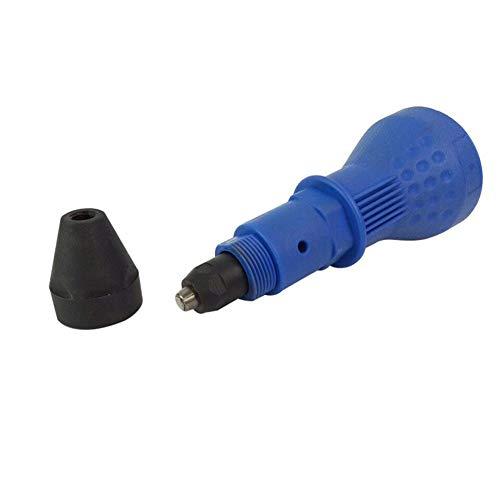 Elegante elektrische Nietmutternkopf Nietkopf Nietwerkzeug Bohr-Adapter Einsatz Mutter Werkzeug Nietbohrer Adapter blau